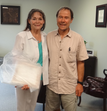 Chris Booth meets Chief Paula Pechonick, Lenape Delaware Tribe of Indians
